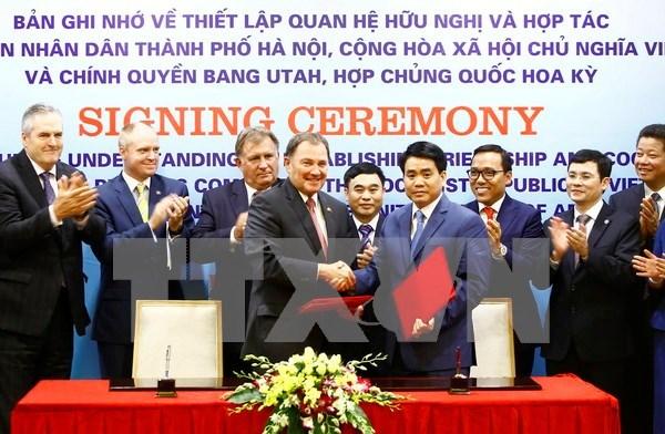 Hanoi y Estado de Utah de EE.UU. fortalecen relaciones de cooperacion hinh anh 1