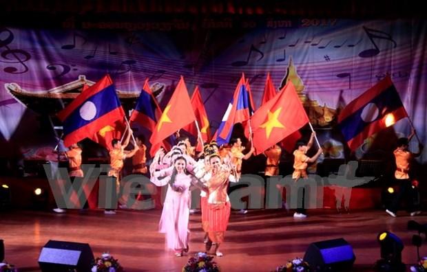 Celebran concurso de canciones sobre la solidaridad especial Vietnam- Laos hinh anh 1