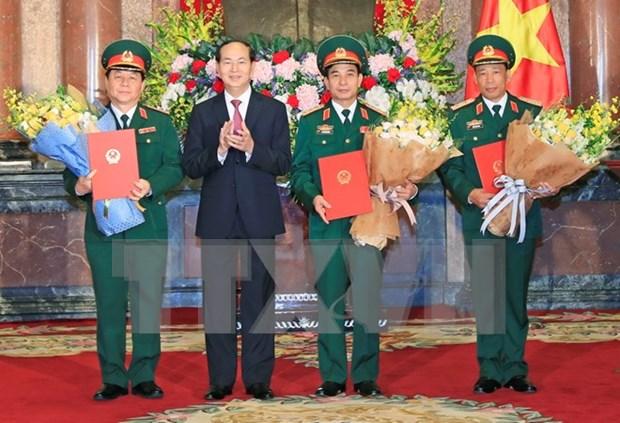 Presidente vietnamita dirige acto de ascensos a oficiales militares hinh anh 1