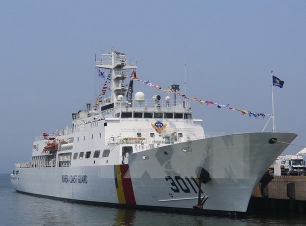 Buque de la guardia costera de Sudcorea visita ciudad vietnamita hinh anh 1