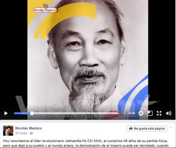 Presidente venezolano Maduro recuerda al Ho Chi Minh hinh anh 1