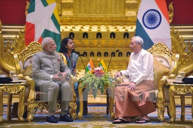 Premier de India visita Myanmar hinh anh 1