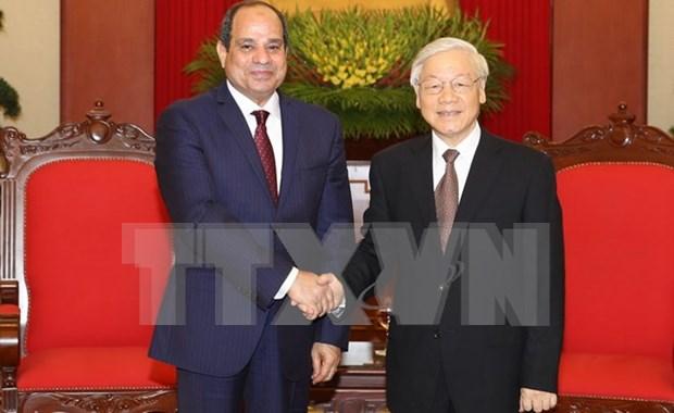Visita del presidente egipcio iniciara nueva etapa para relaciones con Vietnam hinh anh 1