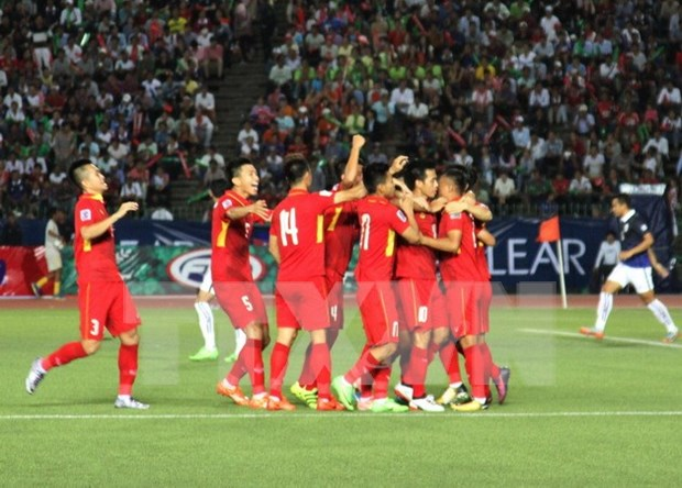 Clasificacion para Copa Asiatica de Futbol 2019: Vietnam derrota a Camboya hinh anh 1