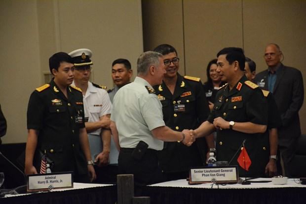 Jefe del Ejercito Popular de Vietnam sostiene reuniones bilaterales al margen de CHOD-20 hinh anh 1