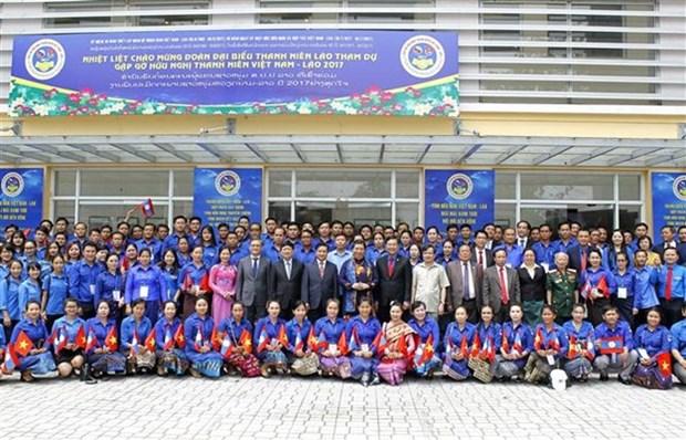 Uniones juveniles de Vietnam y Laos firman acuerdo de cooperacion hinh anh 1