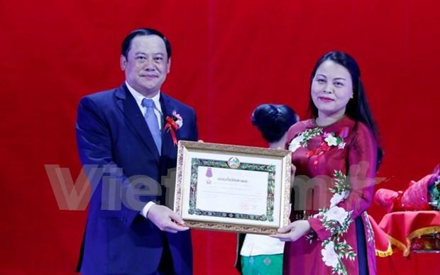Uniones de Mujeres de Vietnam y Laos se esfuerzan por ampliar cooperacion binacional hinh anh 1