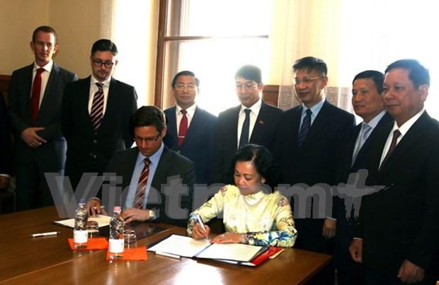 Partido gobernantes de Vietnam y Hungria fortalecen cooperacion hinh anh 1