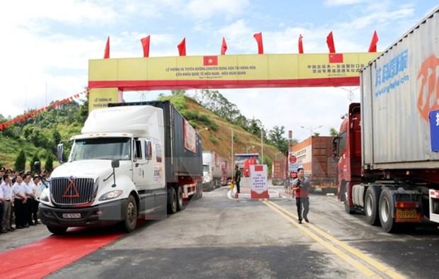 Abren via especializada para transporte de mercancias en puerta fronteriza entre Vietnam y China hinh anh 1
