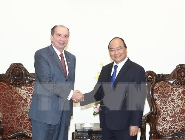 Premier de Vietnam recibe al canciller brasileno hinh anh 1