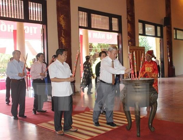 Recuerdan al Presidente Ho Chi Minh en su tierra natal hinh anh 1