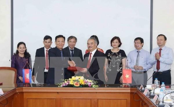 Agencias de noticias de Vietnam y Camboya fortalecen cooperacion hinh anh 1