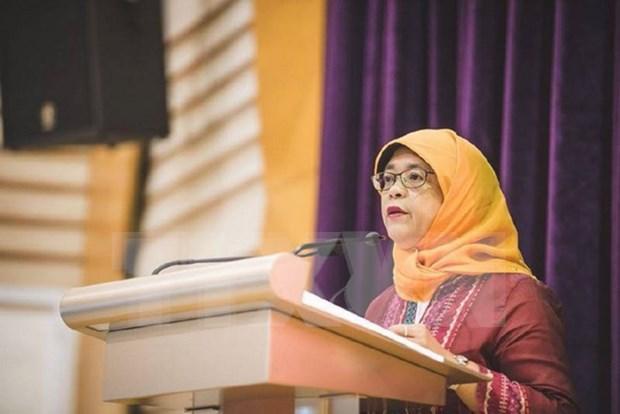 Extitular del Parlamento se convertira en presidenta de Singapur hinh anh 1