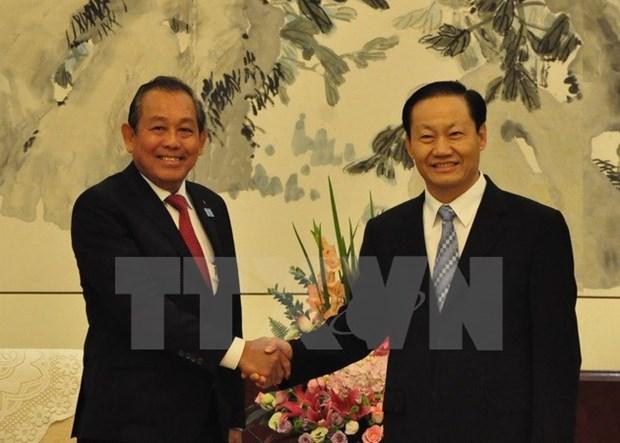 Vicepremier de Vietnam resalta cooperacion con region autonoma china de Guangxi hinh anh 1