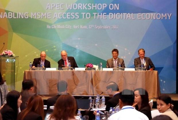 Economias del APEC debaten acceso de las PYMEs en la economia digital hinh anh 1