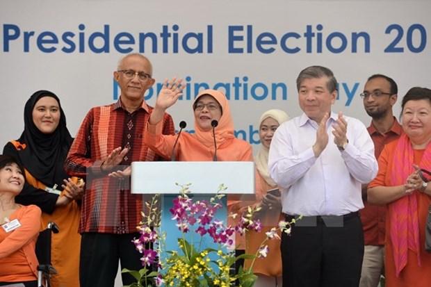 Vietnam felicita a presidenta electa de Singapur hinh anh 1