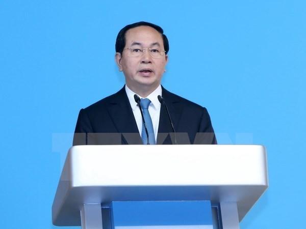 Presidente de Vietnam saluda AIPA-38 hinh anh 1