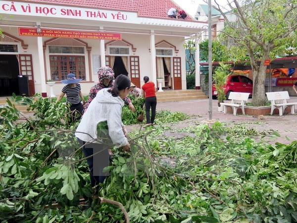 Hanoi ayuda a las victimas del tifon Doksuri en la region central hinh anh 1