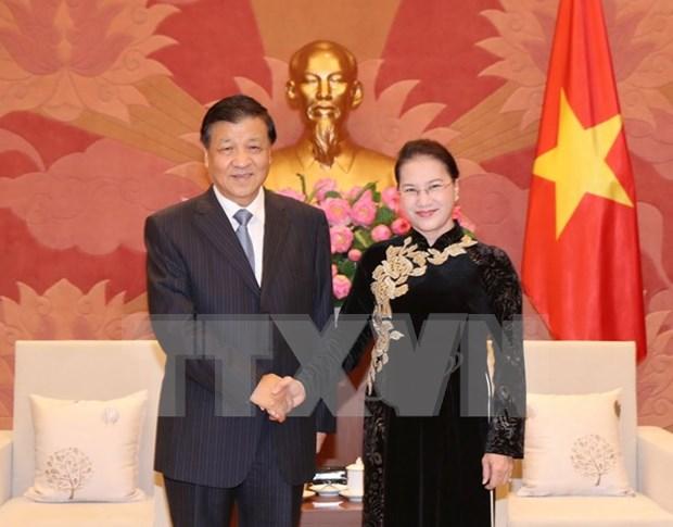 Presidenta del Parlamento vietnamita valora altamente nexos con China hinh anh 1