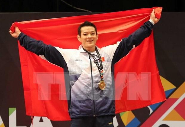 Vietnam logra siete medallas en primer dia de competencias de AIMAG 2017 hinh anh 1
