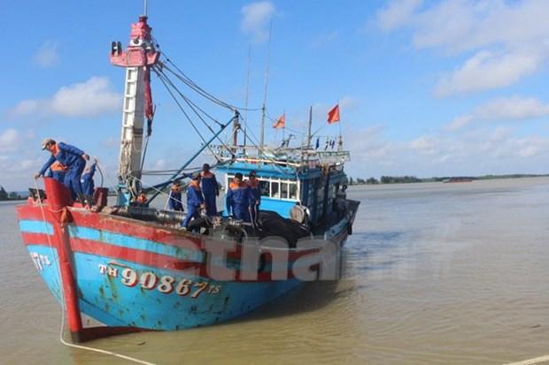Rescatan a 17 pescadores vietnamitas accidentados en el mar hinh anh 1