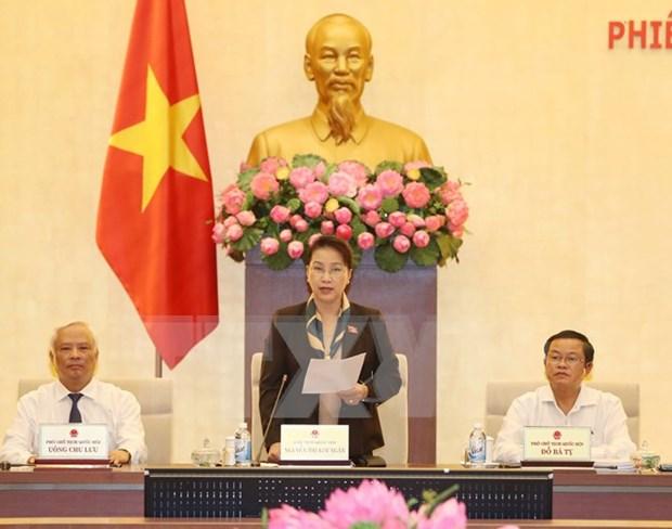 Comite Permanente del Parlamento vietnamita concluye su XIV reunion hinh anh 1