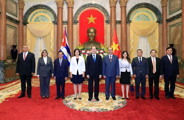 Nuevos embajadores presentan sus cartas credenciales a Presidente de Vietnam hinh anh 1