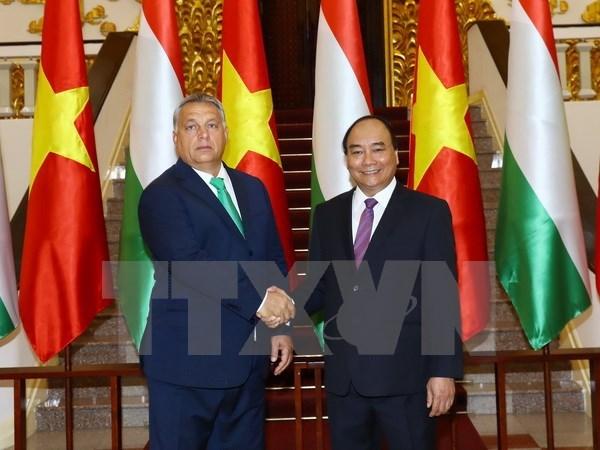 Premier de Hungria concluye visita a Vietnam hinh anh 1