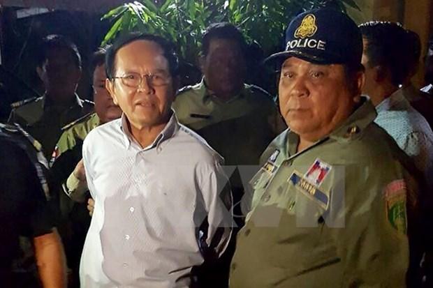 Tribunal de Camboya mantiene orden de arresto a presidente de partido opositor hinh anh 1