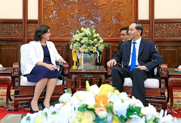 Presidente de Vietnam recibe a nueva embajadora de Cuba hinh anh 1