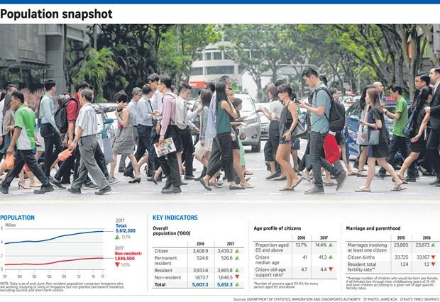 Crecimiento de poblacion de Singapur alcanzo tasa mas baja en 10 anos hinh anh 1