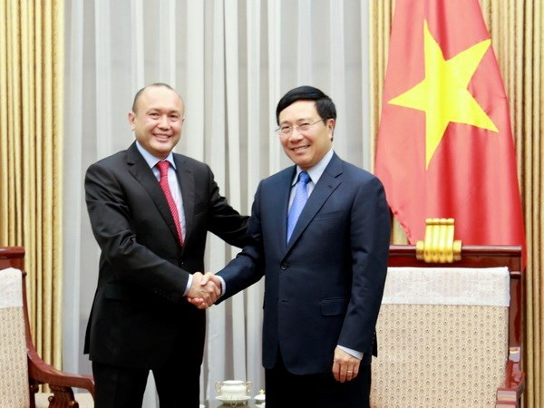 Vietnam y Kazajstan mejoran eficiencia de cooperacion bilateral hinh anh 1