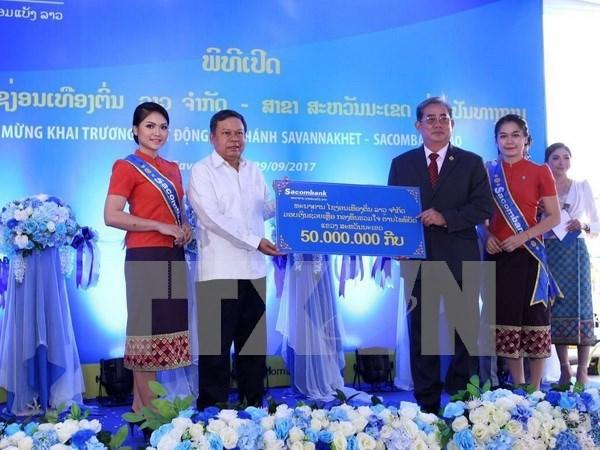 Banco vietnamita Sacombank abre nuevo filial en Laos hinh anh 1