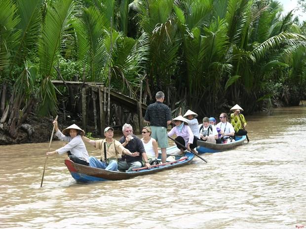 Aumentan arribos de turistas a localidades del Delta del rio Mekong de Vietnam hinh anh 1