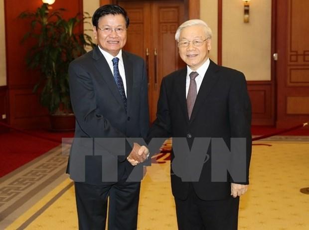 Maximo dirigente partidista de Vietnam aboga por mayores nexos comerciales con Laos hinh anh 1