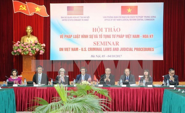 Celebran seminario sobre codigo penal y procedimiento judicial Vietnam-EE.UU hinh anh 1