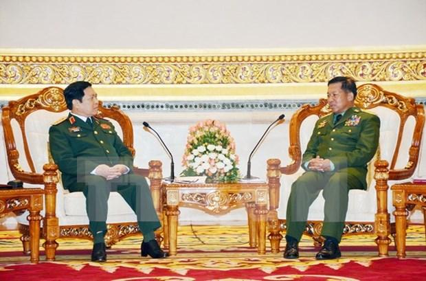 Vietnam y Myanmar profundizan nexos en defensa hinh anh 1