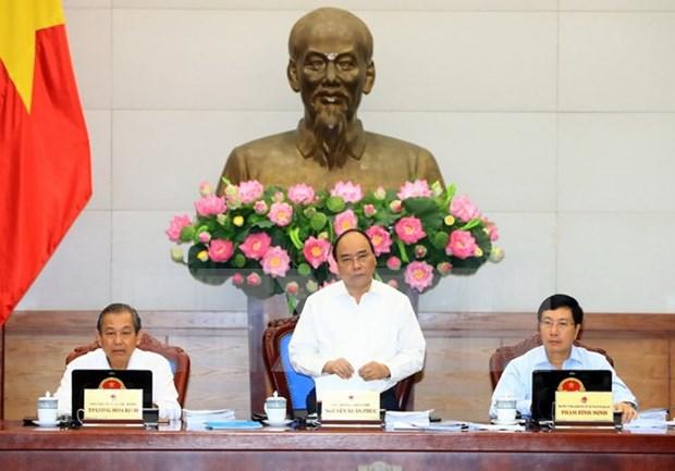 Gobierno vietnamita analiza situacion economica de primeros nueve meses de 2017 hinh anh 1