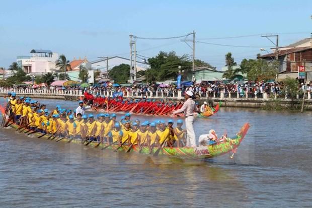Celebraran festival Ok Om Bok de los khmeres en Vietnam hinh anh 1