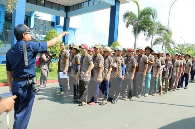 Indonesia libera a 239 pescadores vietnamitas hinh anh 1