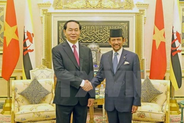 Vietnam felicita al sultan de Brunei por sus 50 anos de reinado hinh anh 1