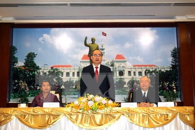 Ciudad Ho Chi Minh orgullosa de sus contribuciones a vinculos entre Vietnam y Camboya hinh anh 1