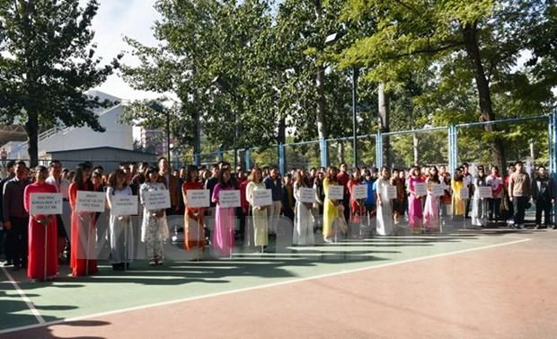Festival deportivo de vietnamitas en Beijing refuerza solidaridad entre connacionales hinh anh 1