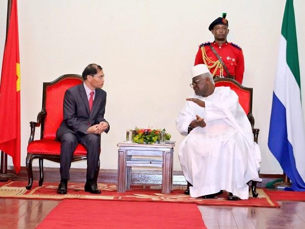 Vietnam y Sierra Leona fortalecen cooperacion multifacetica hinh anh 1