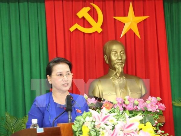Presidenta del Parlamento vietnamita participara en IPU 137 y visitara Kazajistan hinh anh 1