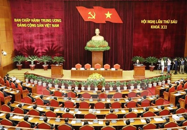 Concluye sexto pleno del Comite Central del Partido Comunista de Vietnam hinh anh 1