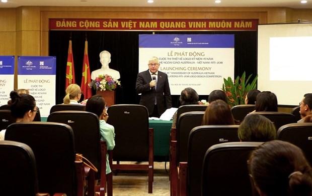 Lanzan concurso de diseno de logo por el 45 aniversario de nexos Vietnam- Australia hinh anh 1