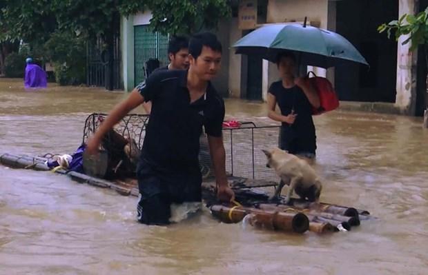 Siete muertes y cuatro desaparecidas en inundaciones registradas en Thanh Hoa hinh anh 1