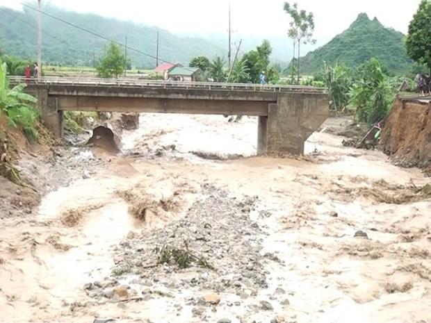 Inundaciones causan grandes danos en provincia norvietnamita de Son La hinh anh 1
