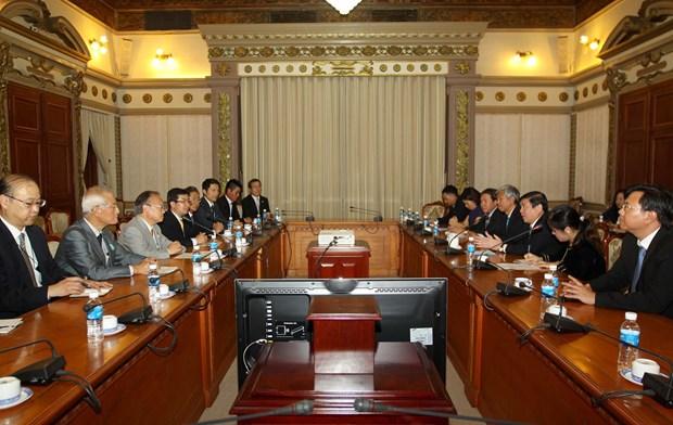Ciudad Ho Chi Minh y urbe japonesa de Kawaguchi fortalecen nexos de cooperacion hinh anh 1